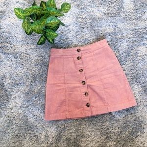 H&M Corduroy Mini Skirt Pink Size 2